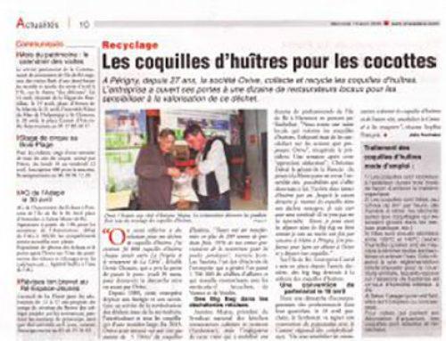 Les restaurateurs de Charente-Maritime encouragés àtrier leurs déchets de coquillages